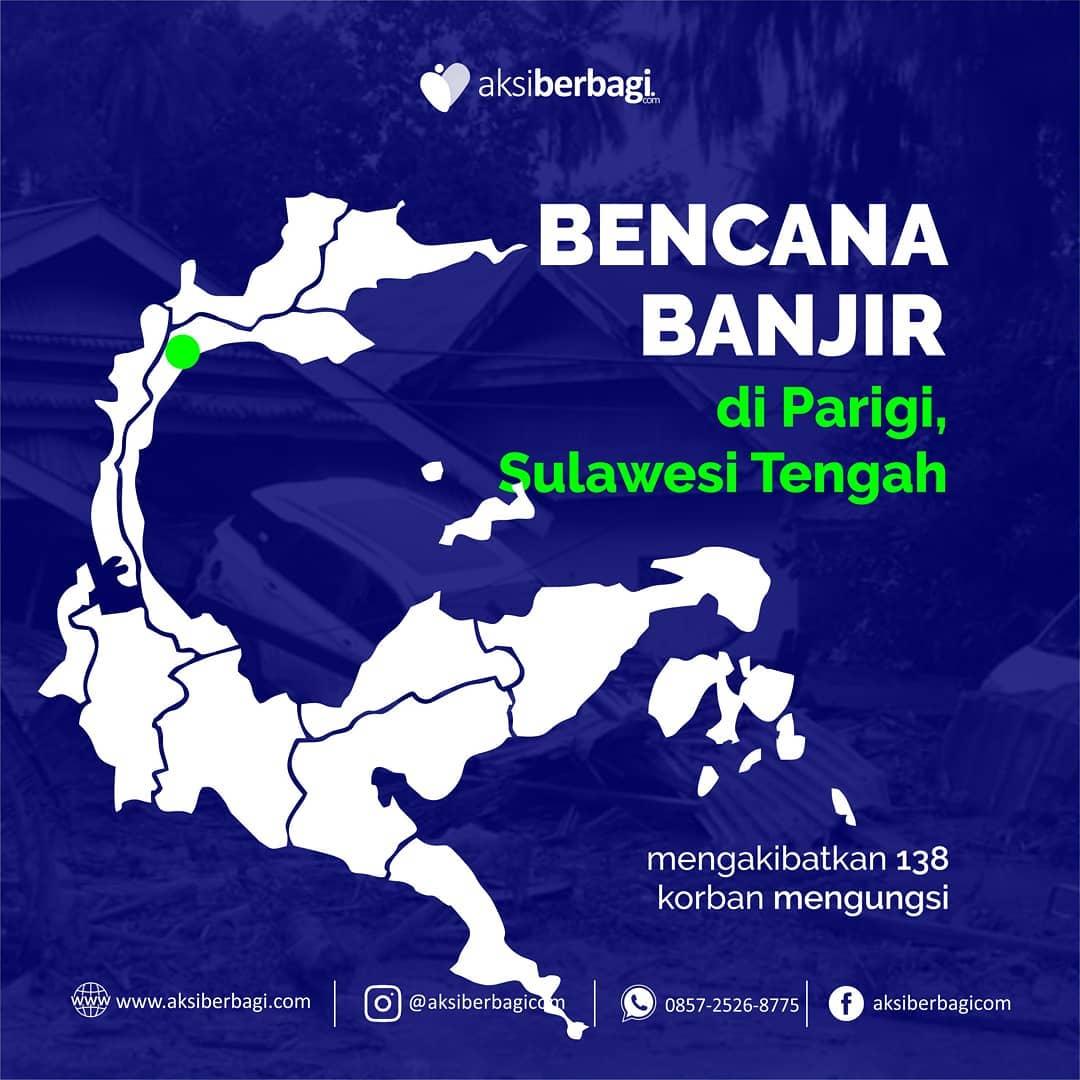138 Jiwa Korban Banjir Parigi, Sulawesi Tengah Mengungsi di Rumah Kerabat