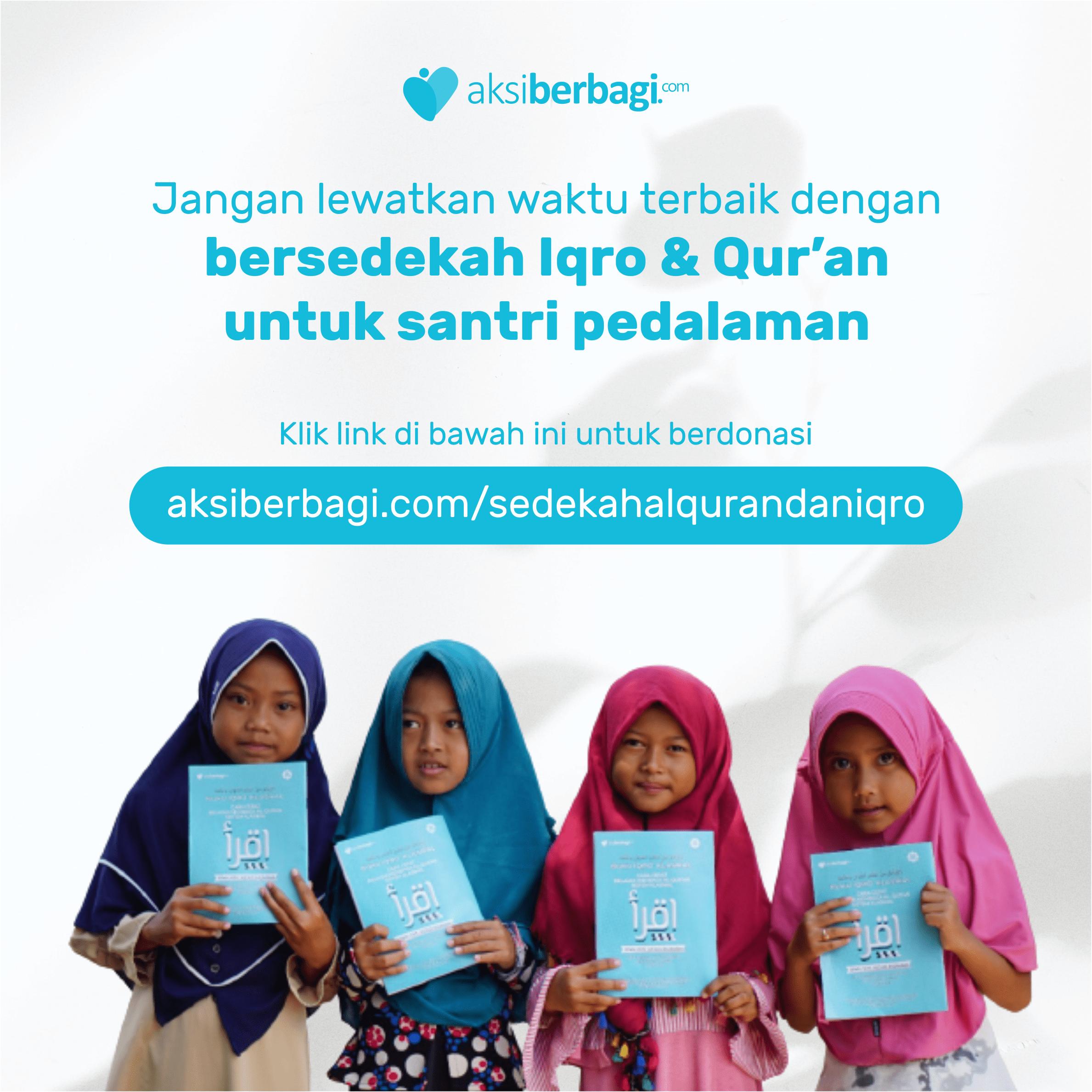 Manfaat Bersedekah Al-Quran untuk Santri