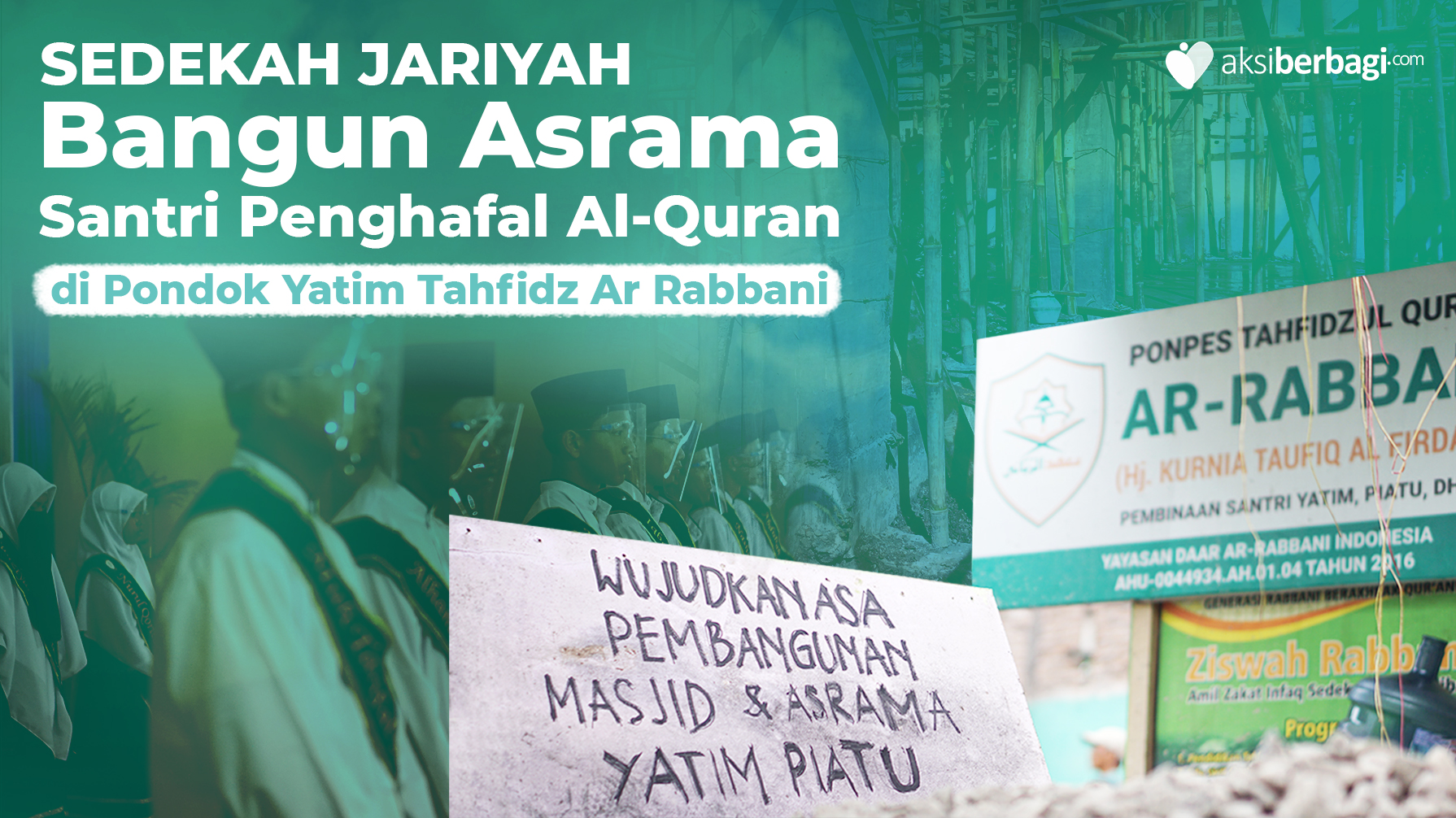 Sedekah Jariah: Wujudkan Masjid dan Asrama Yatim Tahfidz Pesantren Yatim Dhuafa Ar Rabbani